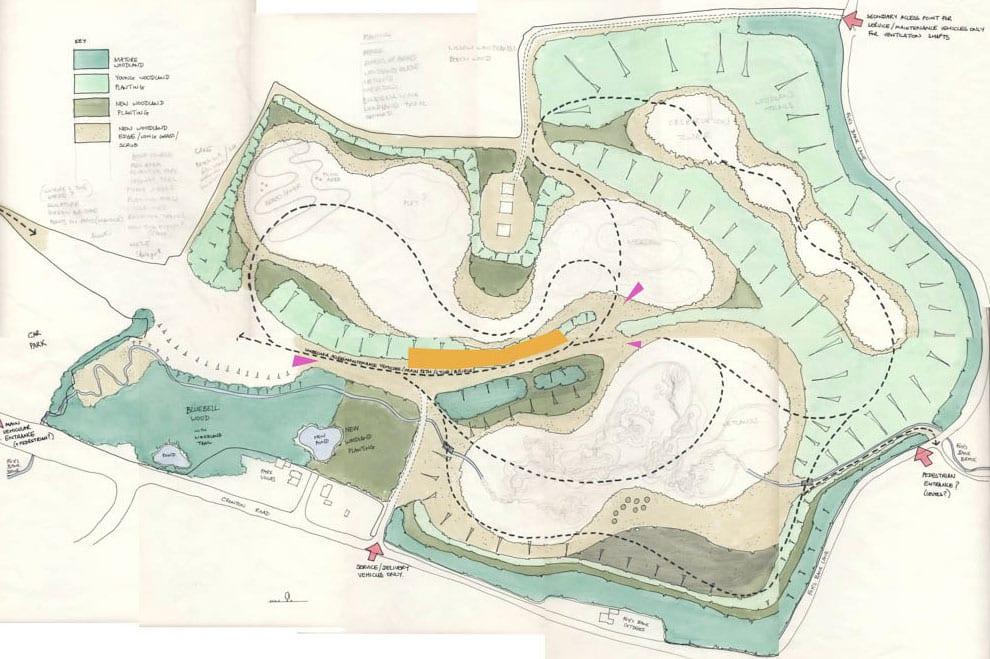 Cronton Colliery Masterplan Sketch