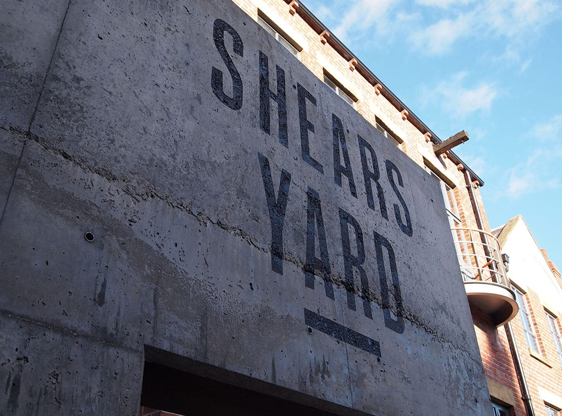 Shears Yard Concrete Gateway Signage