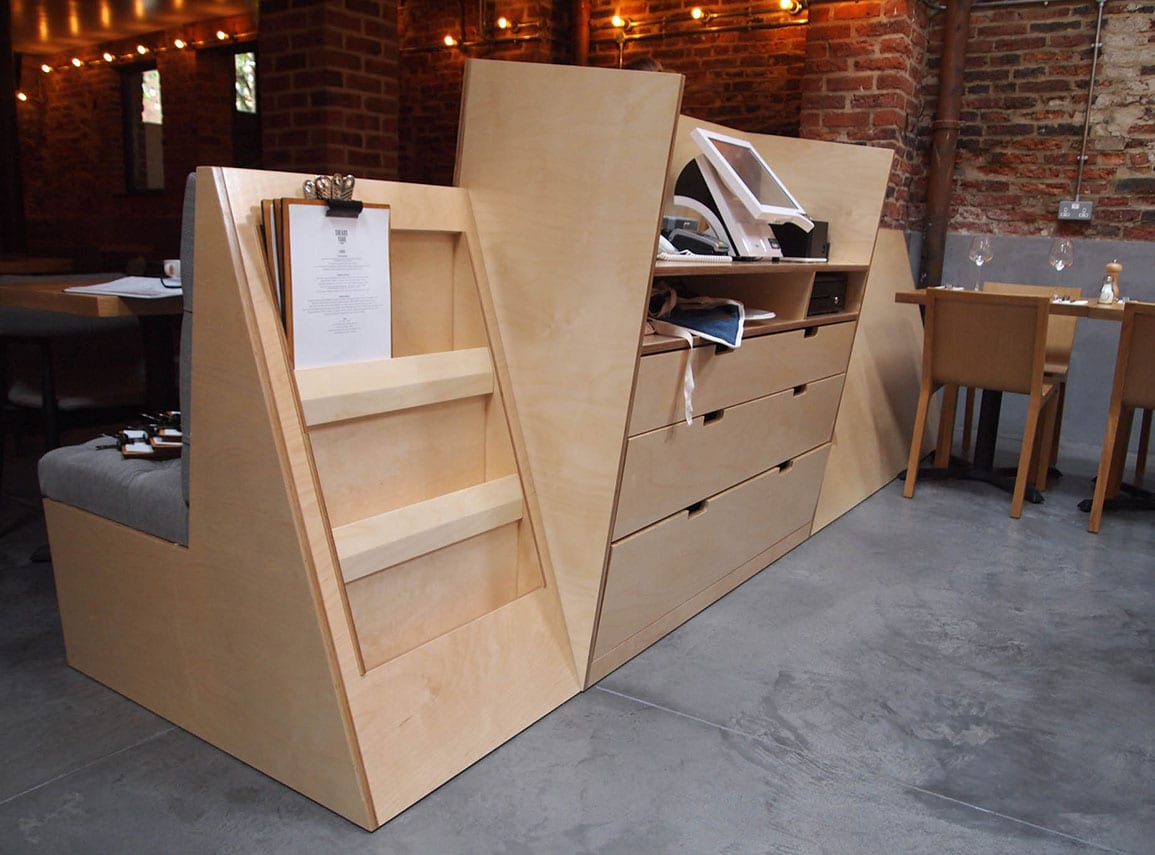 Shears Yard Bespoke Joinery Plywood Waiter Station