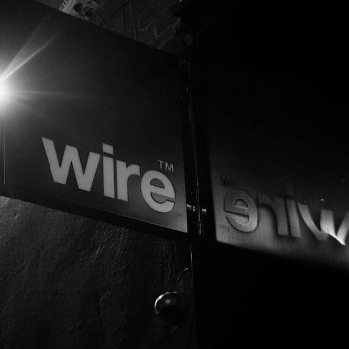Wire Nightclub Sign