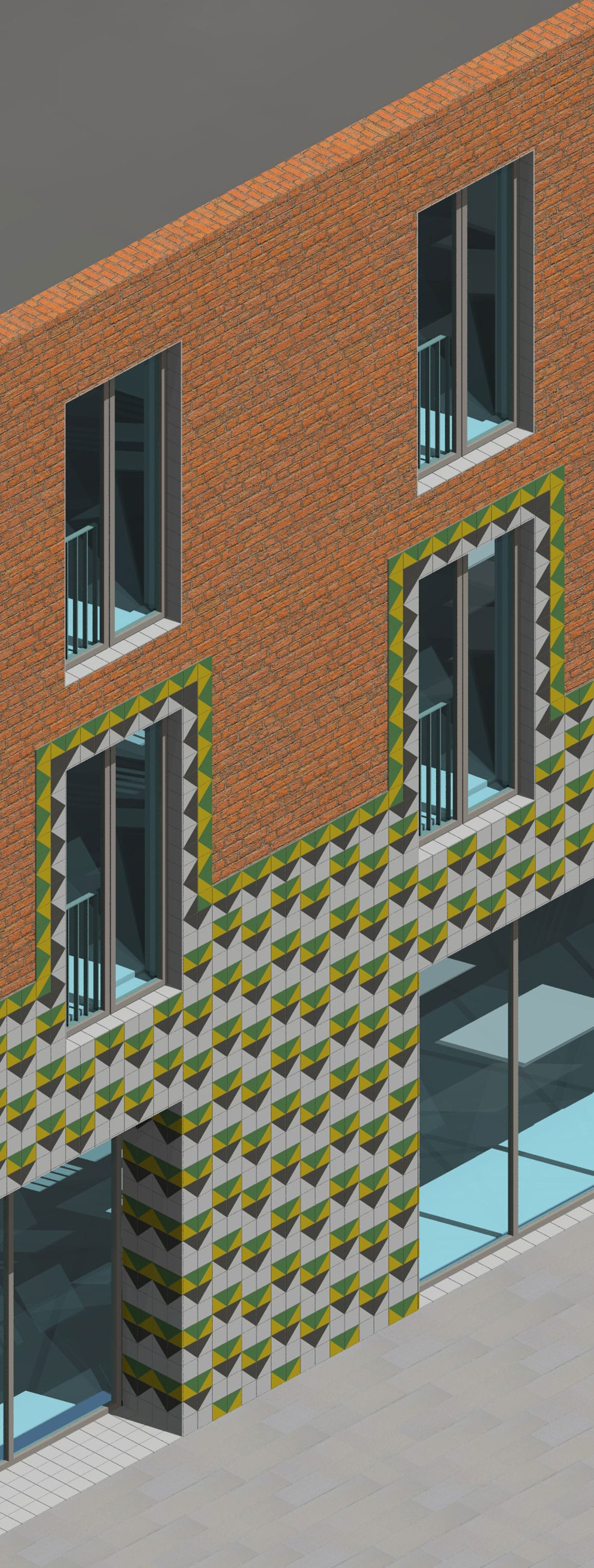 SAFE Tiled Facade Detail