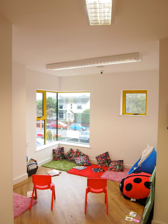 Nursery Extension Inside Corner Window
