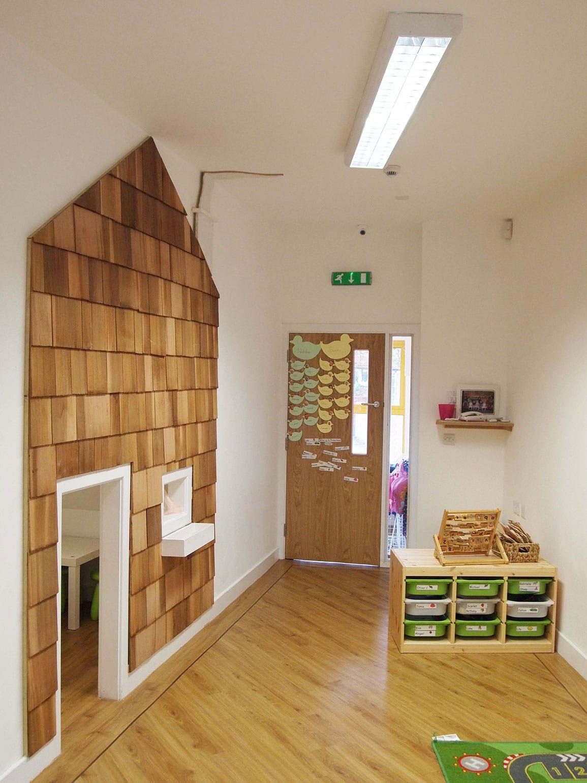 Nursery Extension Inside Shingle House