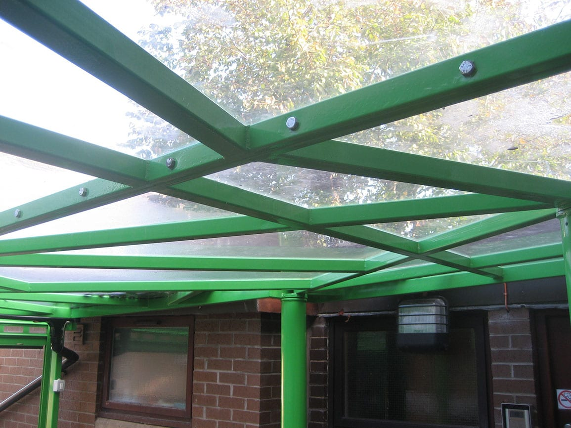 St Johns Canopy Polycarbonate and Steel Tree Like Structure