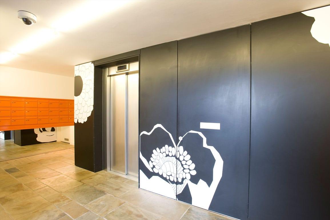 3 Towers Lobby Bespoke Wallpaper Design