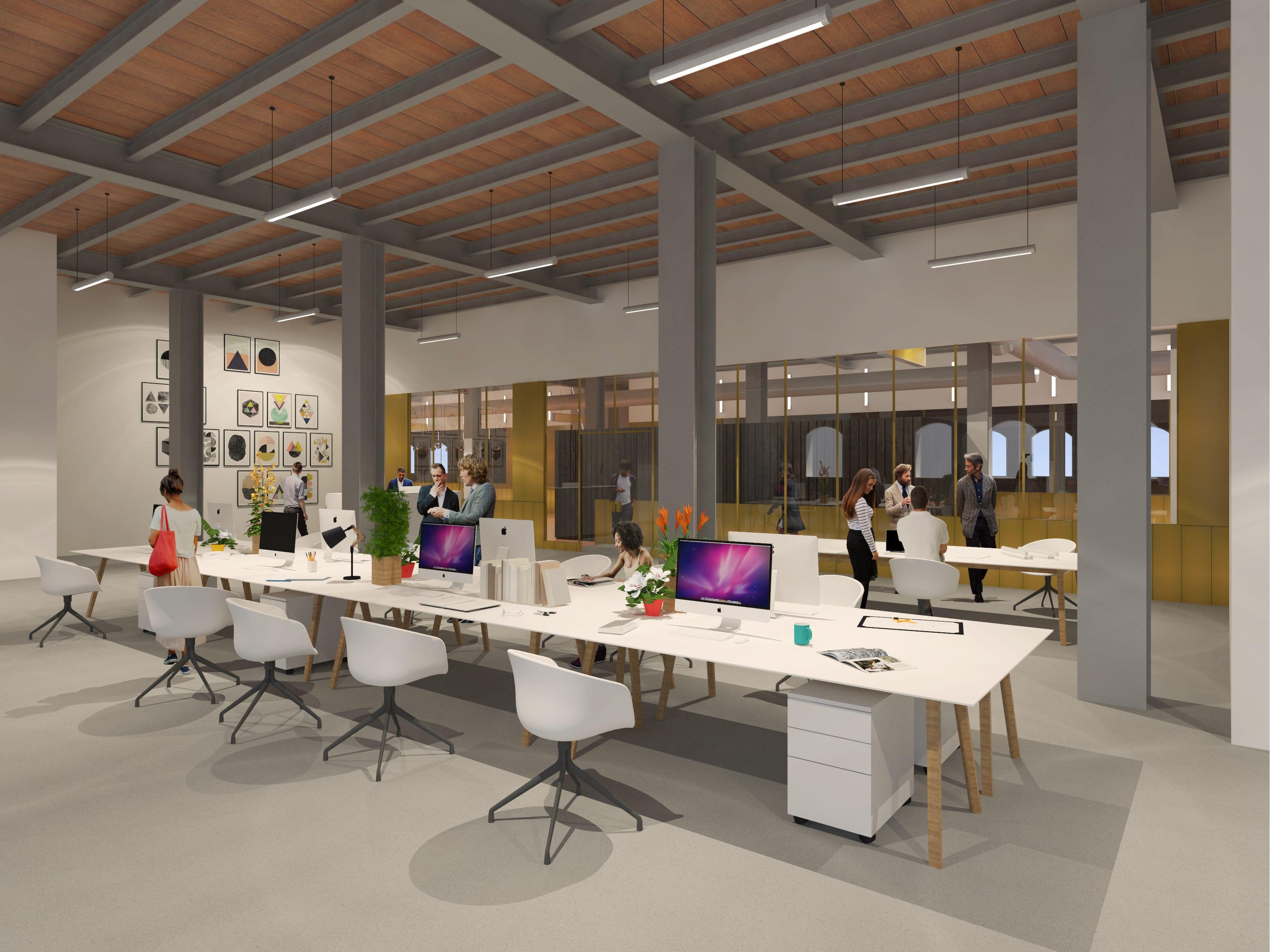 St Georges Quarter architectural Emporium Visualisation Office Interior