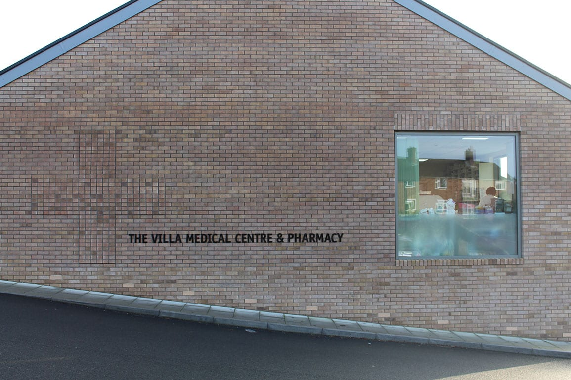 Villa Medical Centre Architectural Emporium Signage Brick