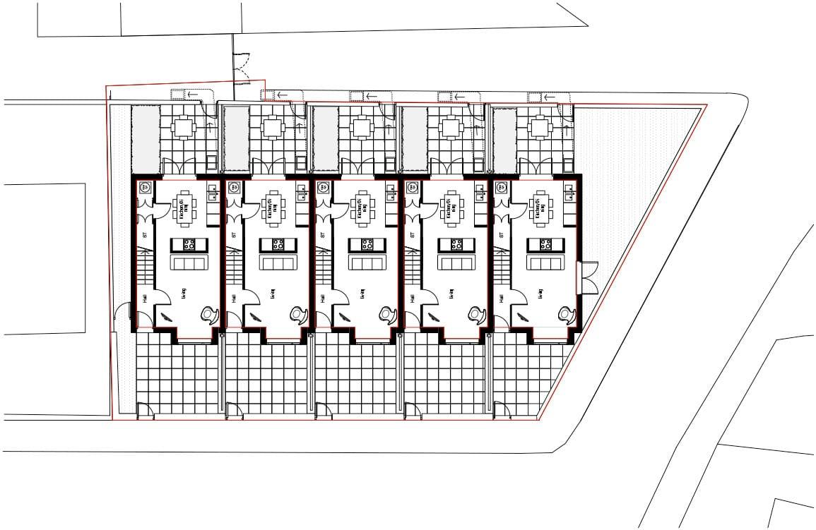 ground floor plan kensington terraced housing