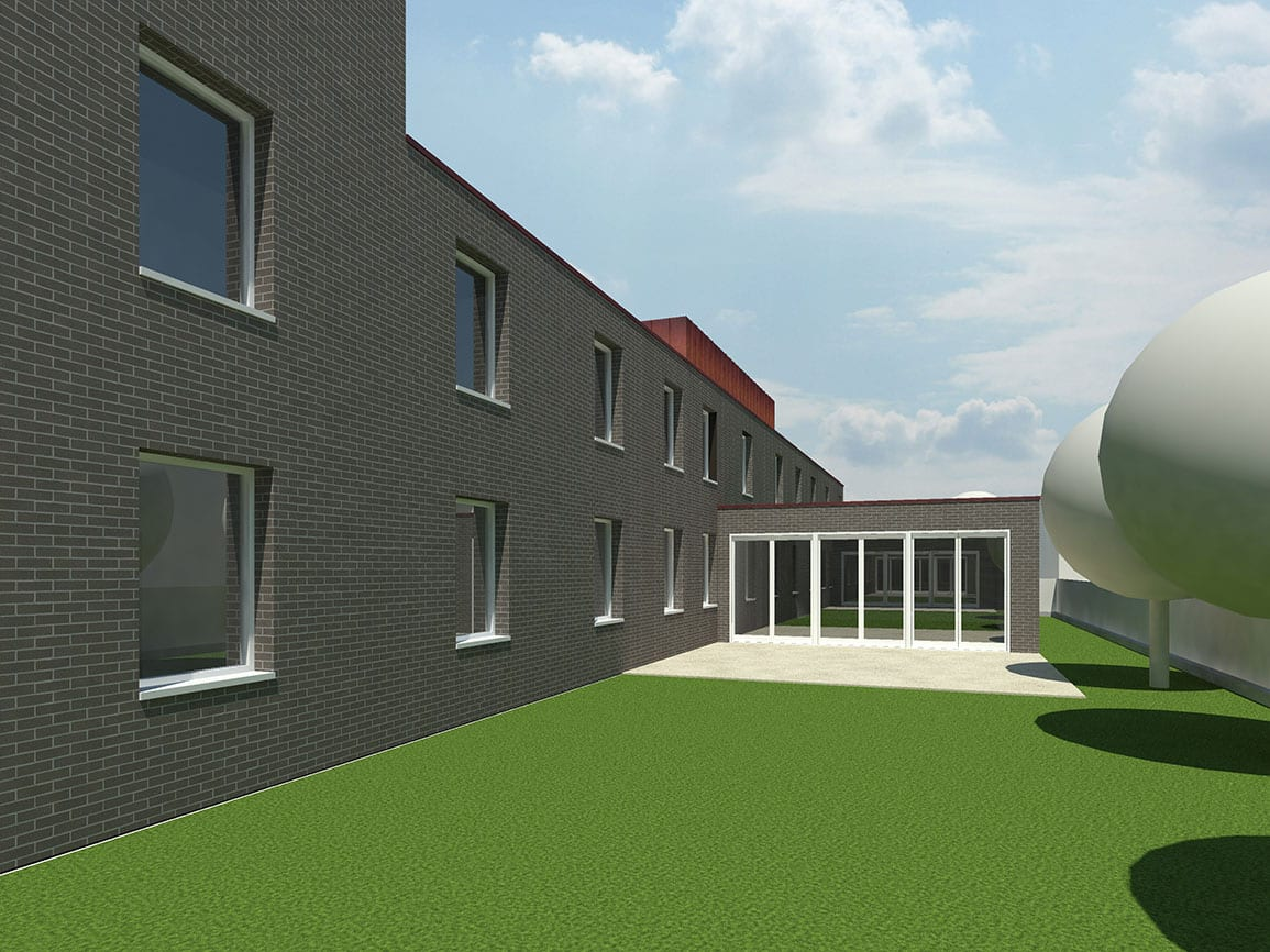 Garden View of Formby Carehome Architectural Emporium