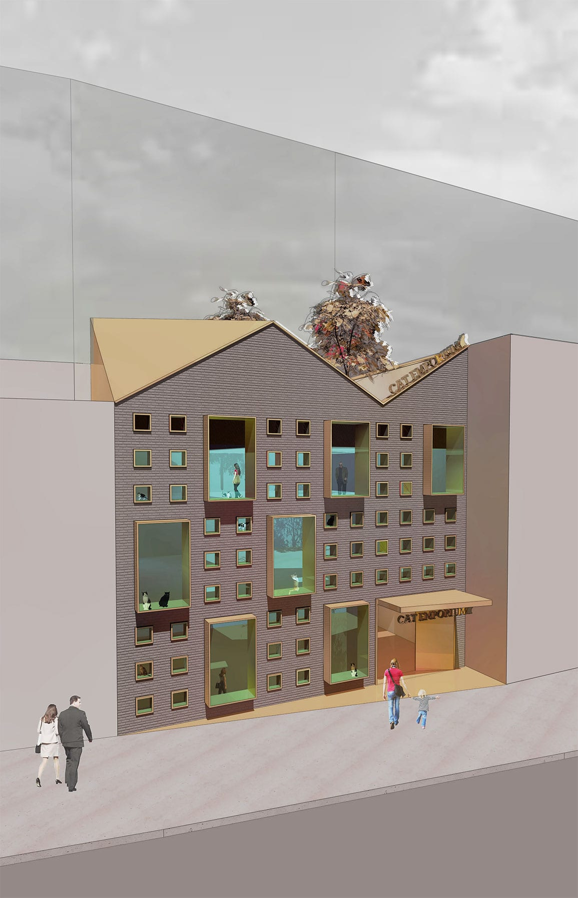 Cat Emporium Facade Lime St Alternative Proposal Architectural Emporium 3d