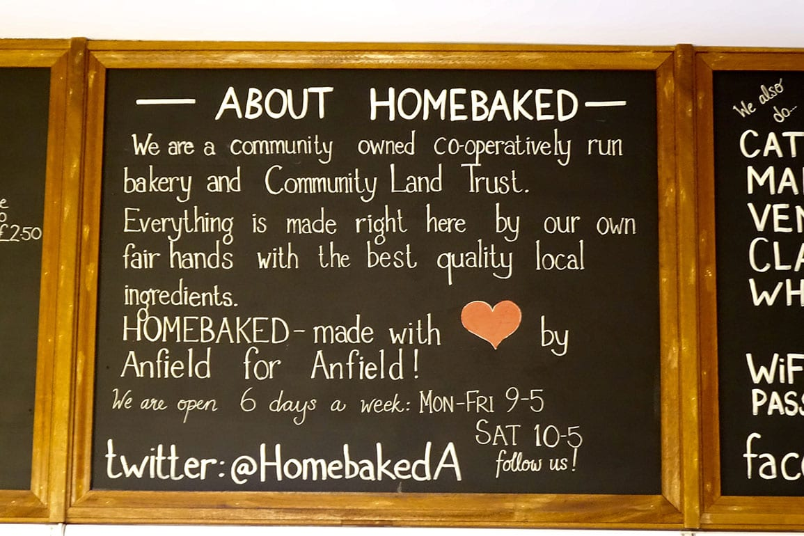 Homebaked blackboard and mission