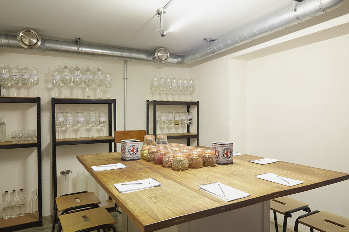 Tasting room lab distillery architectural emporium gin portobello road