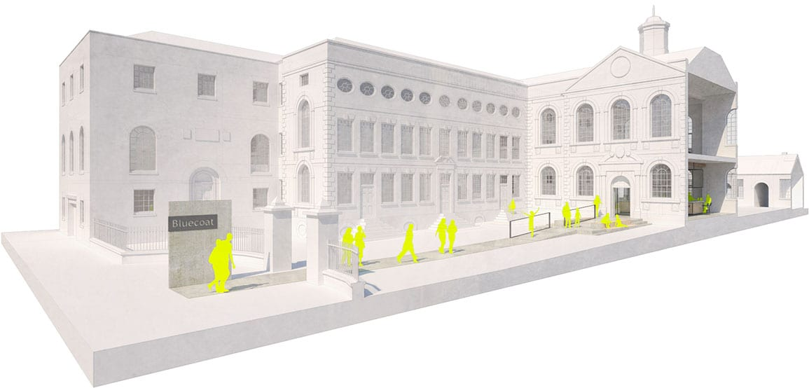 Bluecoat Architectural Emporium 3d ramp entrance proposals