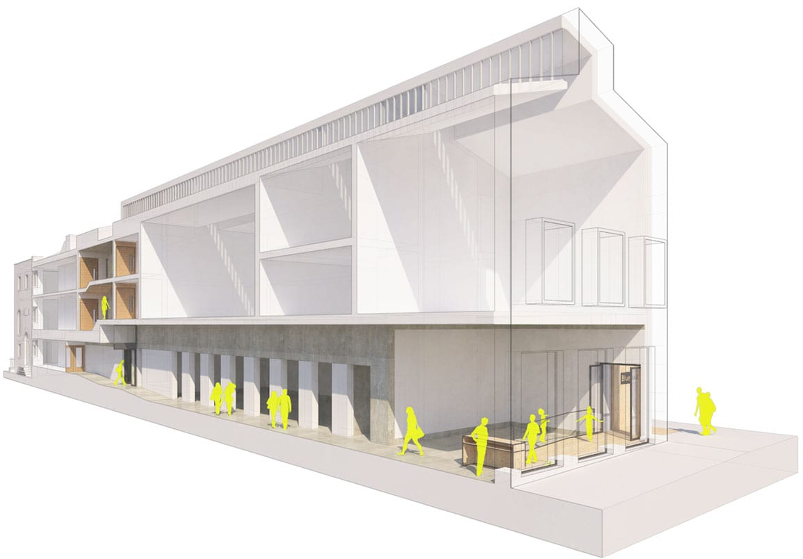 Bluecoat Architectural Emporium 3d gallery entrance proposals