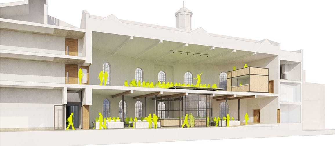 Bluecoat Architectural Emporium 3d hub cafe performance proposals