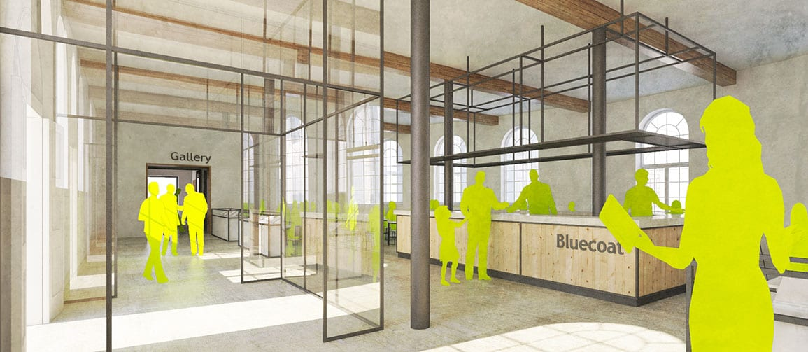 Bluecoat Architectural Emporium 3d hub cafe proposals