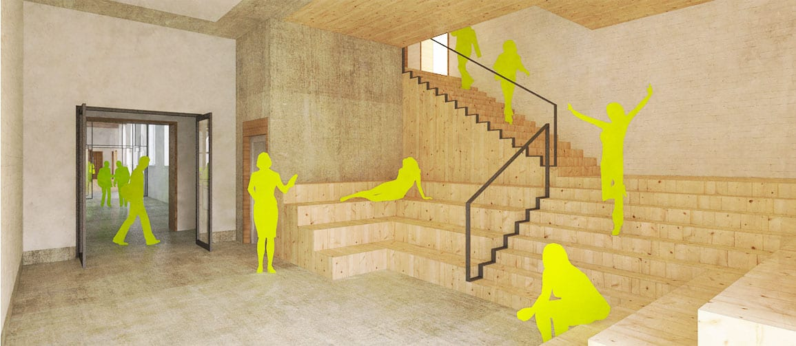 Bluecoat Architectural Emporium vide staircase gallery engagement proposals