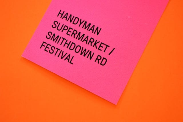 Handyman Supermarket Smithdown Rd Festival Architectural Emporium Pop up Event