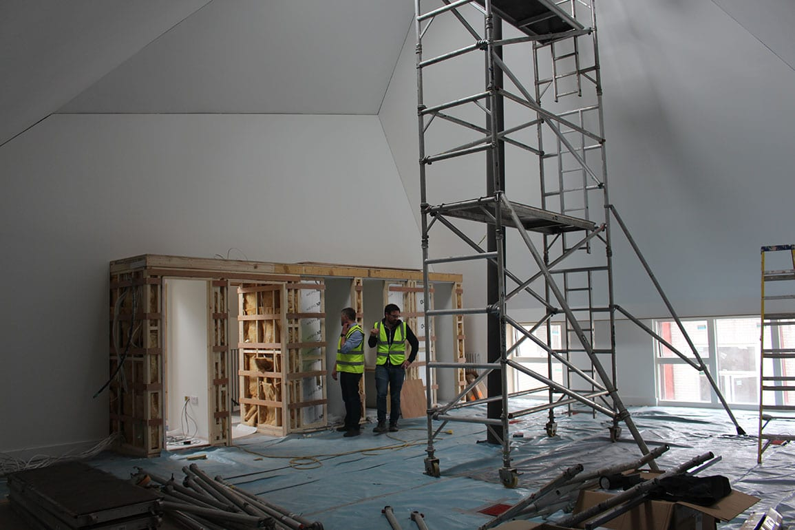 Walk the plank in progree site photo feature wall