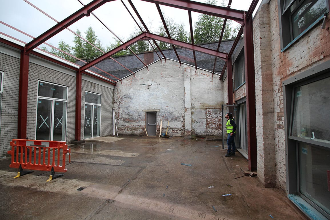 Architectural Emporium Walk the plank in progress site photo courtyard