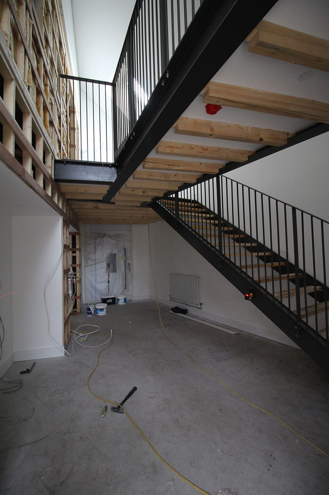 Architectural Emporium Walk the plank in progress site photo staircase