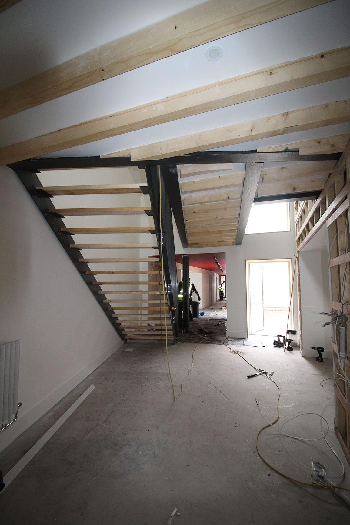 Architectural Emporium Walk the plank in progress site photo hallway