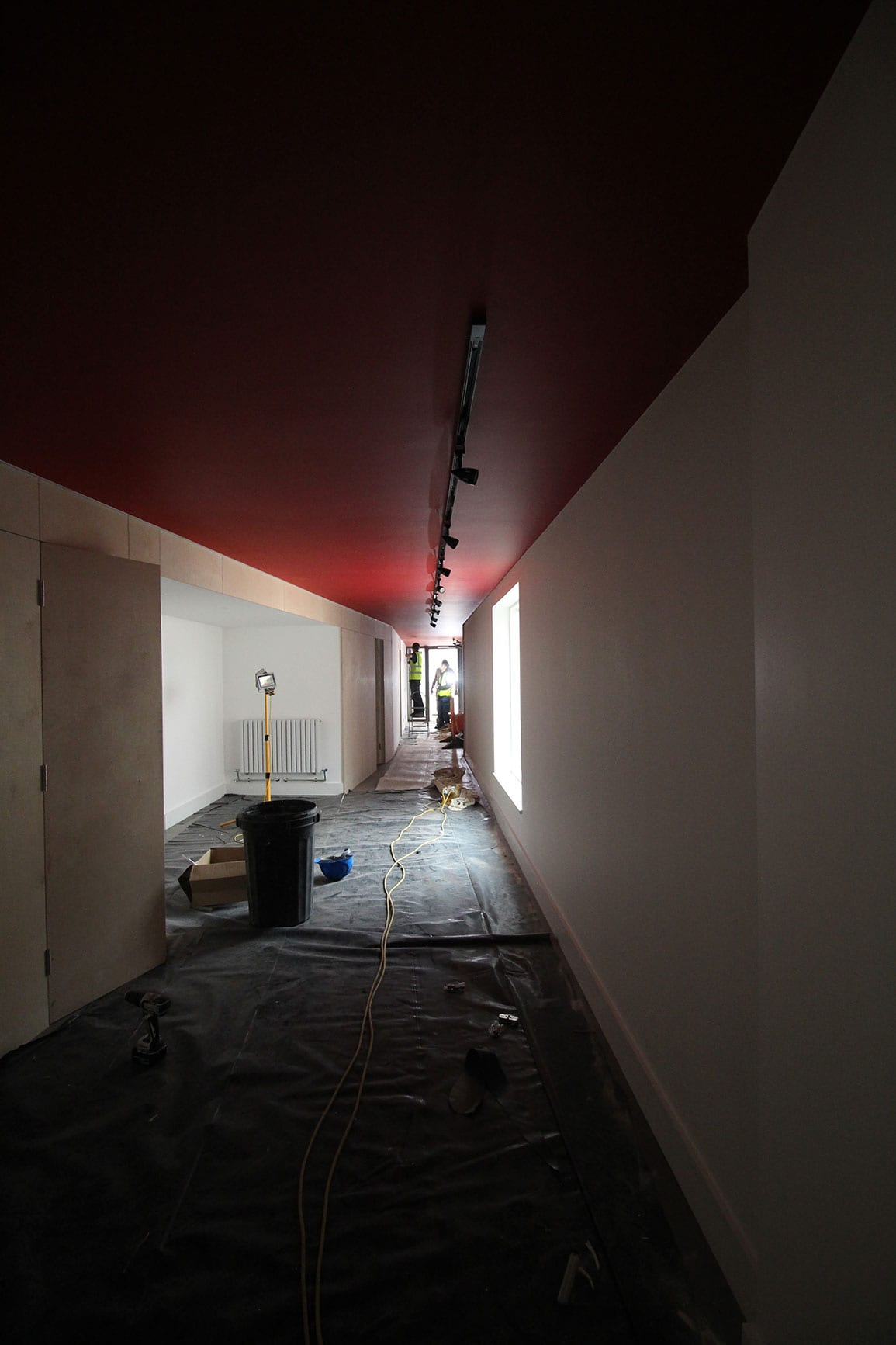 Architectural Emporium Walk the plank in progress site photo hallway