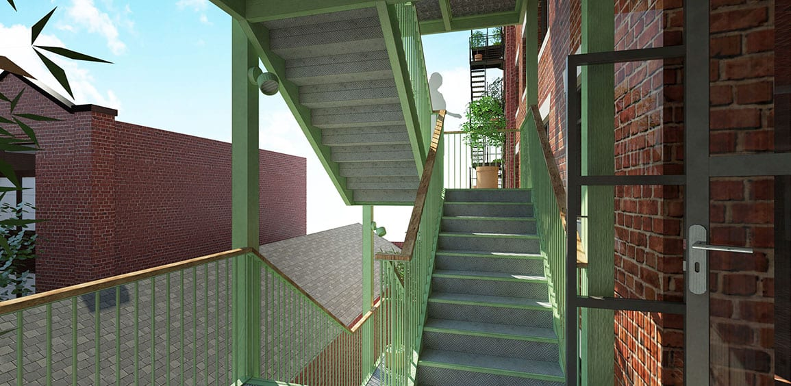 Islington Mill Arts Centre Architectural Emporium Stairs