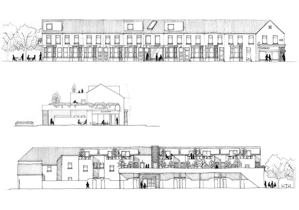 Elevation of adapted existing terrace in anfield Liverpool Architectural Emporium