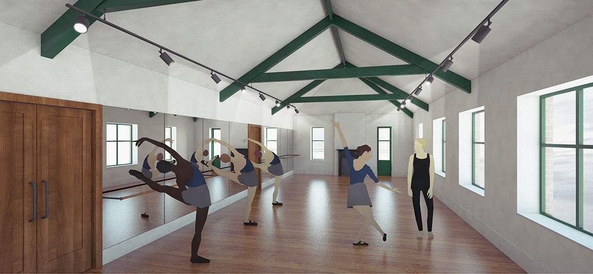 Powys Dance Architectural Emporium Feasibility Scheme second space dance