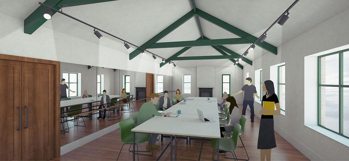 Powys Dance Architectural Emporium Feasibility Scheme second space office