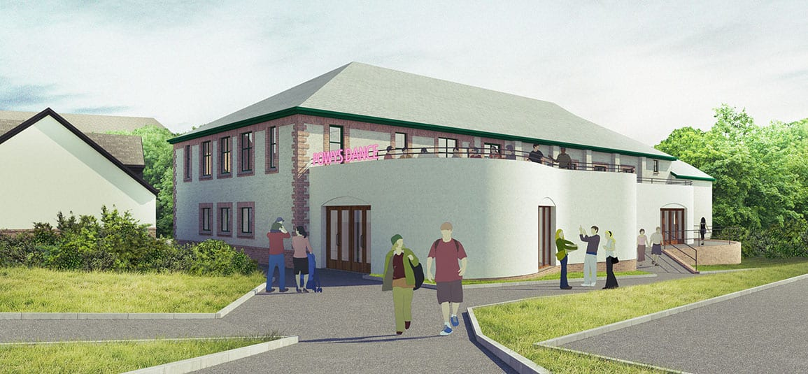 Powys Dance Architectural Emporium Feasibility Scheme curved extension