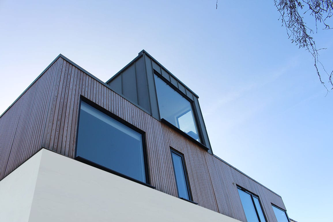 Heswall House Architectural Emporium Zinc Siberian Larch Render