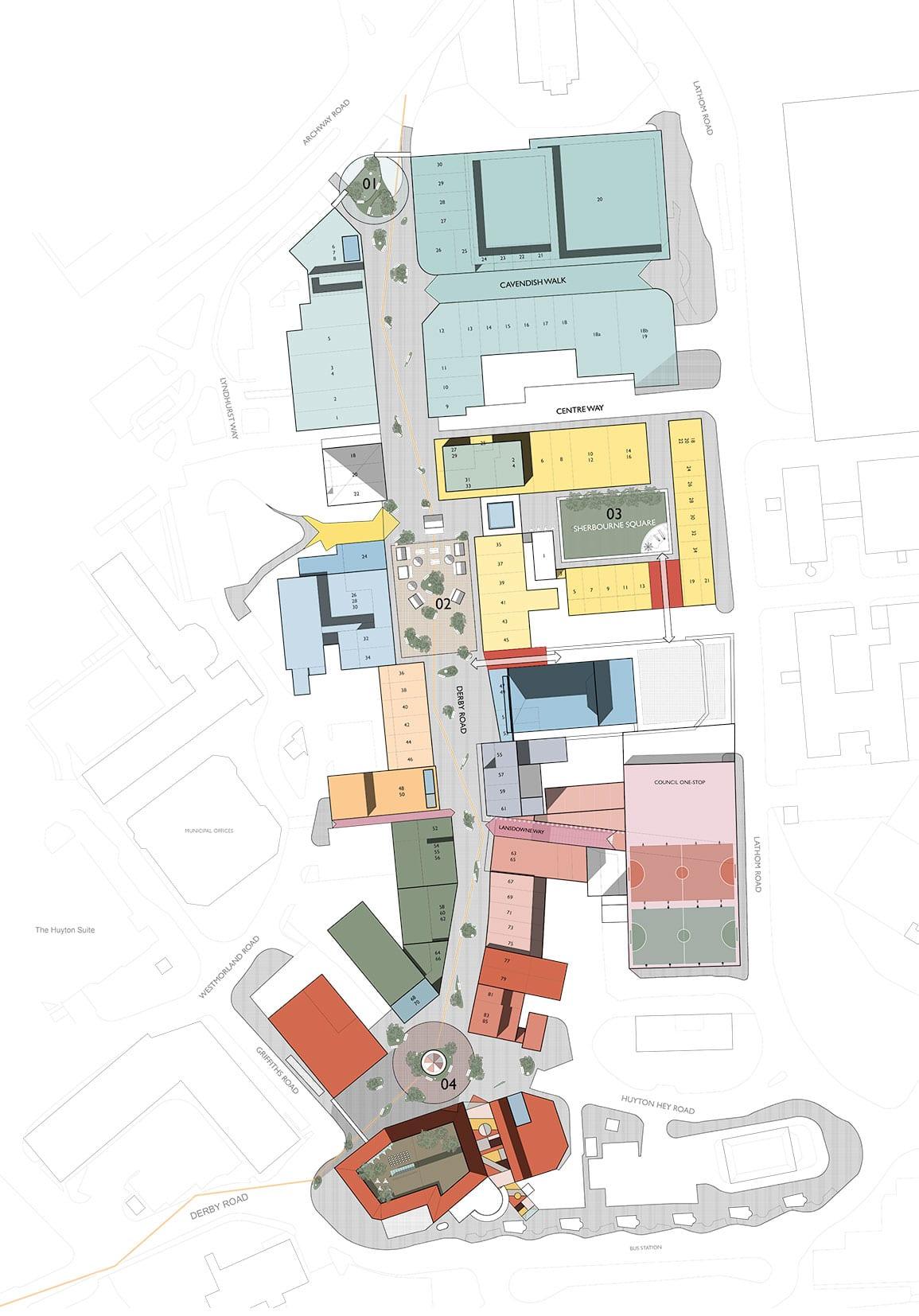 Huyton Shops Shopfronts Urban Regeneration Architectural Emporium