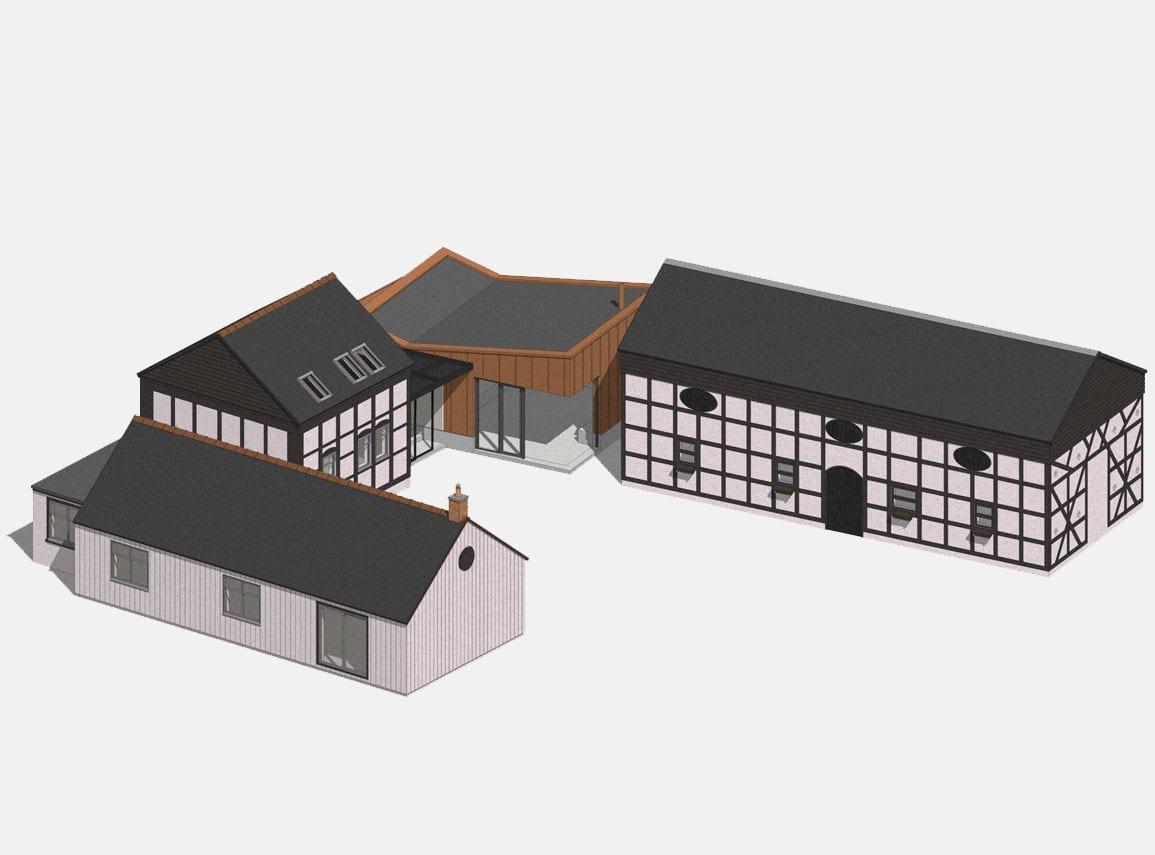 House extension copper concrete listed barn grain store Architectural Emporium
